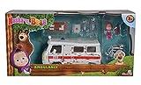 Masha e Orso - Masha and the Bear - Play Set - AmbulanzaI bambini possono rimettere in scena scene della serie con il Masha Ambulanza Playset della serie 'Masha e l'Orso'. 20cm lungo ambulanza originale dalla serie può essere aperta da lati d...