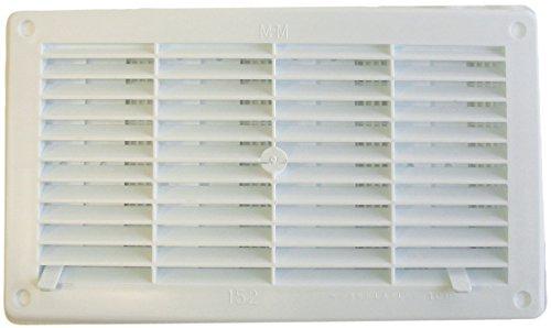 Grille coulissante encastrable - Plastique - Blanc - 250 x 146 mm - DMO