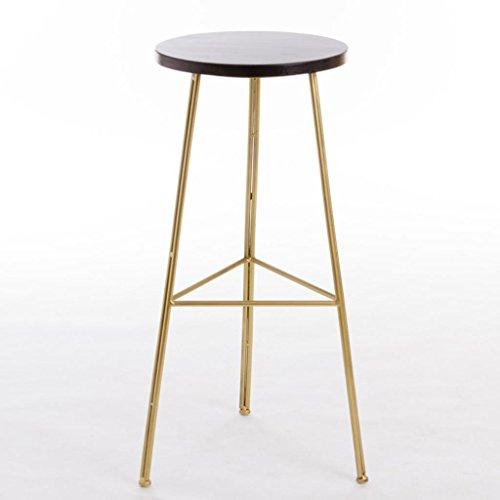 ChunSe Bequeme Sitzhocker,Kreativ Hoher Stuhl Barhocker Barhocker Eisen Barhocker Gold Essensstuhl Metall Eisenkunst Bar 41 * 41 * 45~75cm, 45cm