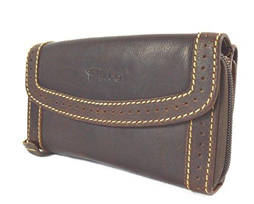 Pedro Nubuk Büffel Leder Damen Brieftasche Vintage Hand Made - Brieftaschen Für Mk Frauen