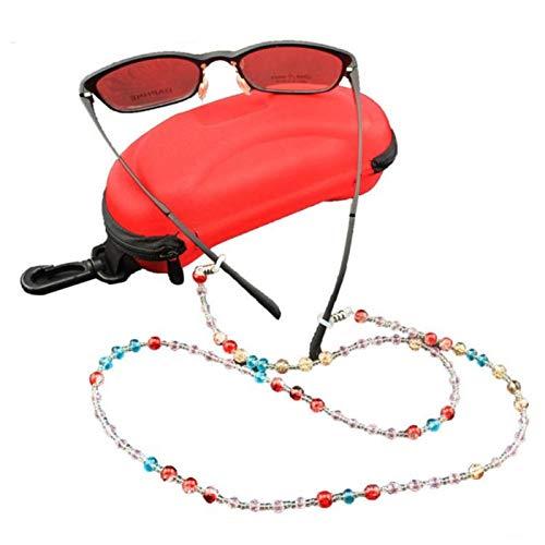 LIUYAWEI Neue 1 stück Bunte perlen Lesebrille Sonnenbrille Brillen perlen Kette Schnur Halter Brillen zubehör