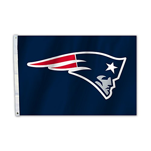 Fremont Die NFL New England Patriots Unisex New England Patriots 2 FT. X 3 ft. Flag W/Grommetts, Marineblau, One Size