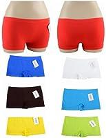 LOT DE 6 culottes Boxer Femme SHORTY Slip couleurs et 2 tailles avec motif