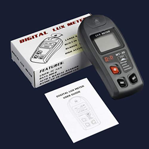 Iluminómetro Sensor Digital Leoboone luxómetro LCD Medidor de Luz de la Prueba Ambiental del fotómetro Grande