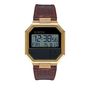 Nixon Herren Uhr Re-Run Leather - Brown Croc