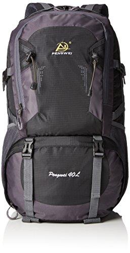 Imagen de fafada 40l grande montañismo  al aire libre nylon resistente al agua bolsa para hacer senderismo travel negro