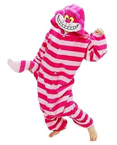 Disfraz o pijama de gato de Cheshire. Unisex, para adultos., XL(181 cm-190 cm)