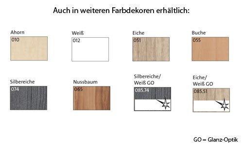 Regalwand B/H/T ca. 275/232/36 cm in Silbereiche-Dekor aus Soft Plus von CS Schmal - 3