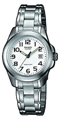 Casio LTP-1259PD-7BEF - Reloj de cuarzo para mujer, con correa de acero inoxidable, color plateado