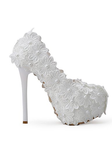 WSS 2016 Chaussures de mariage-Blanc-Mariage / Habillé / Soirée & Evénement-Talons-Talons-Homme 5in & over-us7.5 / eu38 / uk5.5 / cn38
