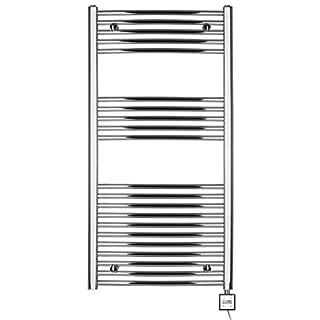 anapont Folding Chrome Electric Radiator - Various Heating Element & WEEHLBARE Cartridge Heater Towel Rail 1175h x 500b