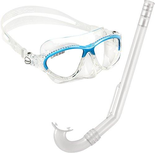 cressi-sub-spa-moon-kit-de-randonnee-aquatique-mixte-enfant-transparent-bleu