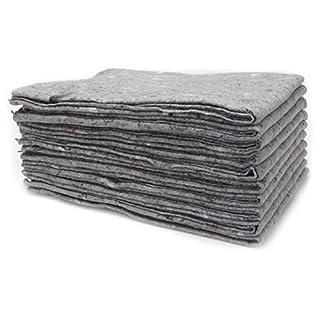 10 x Packdecken Möbelpackdecken ca 300g/m² - grau, 130x190cm Made in Germany Strapazierfähige Umzugsdecken Möbeldecken Recycling-Material Transport Decken Allzweckdecken