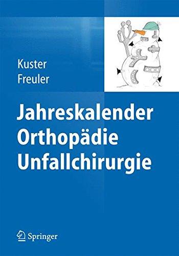 Jahreskalender Orthopädie Unfallchirurgie