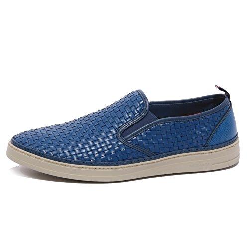 B1343 sneaker uomo BRIMARTS INTRECCIO blu shoe men [42]