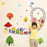 Baby Aufkleber, Wandbilder, süße Tiere, Wanddekoration, Aufkleber, selbstklebend, M Achterbahn, Oversize