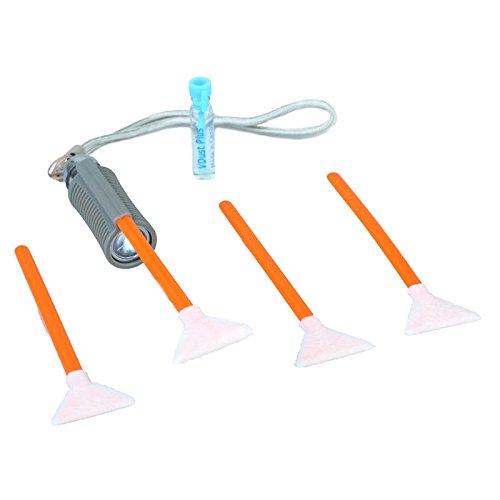 Visible Dust–VisibleDust EZ SwabLight Kit 1.6Sensor Reinigungsset mit 1ml VDust Plus + 4x VSwab Sensor Reinigungs-Schwamm (Orange) + 1x SwabLight Slip-On-Led–geeignet für Kameras mit einem APS-C Sensor (1.6x/16mm)