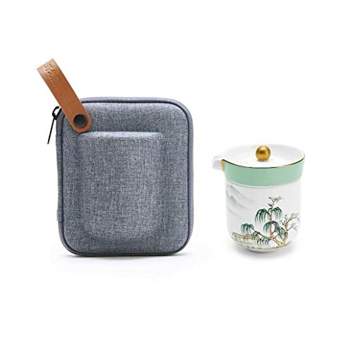 TAO Tragbares Reise-Teeservice Bone China Express Cup für zu Hause (1 Teekanne, 2 Teetassen) Bone China Cup 8