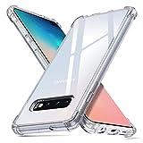 """deconext Custodia Compatibile con Samsung S10 Plus,S10+ Cover Chiaro TPU Trasparente Antiurto Silicone TPU Bordi Sollevati Plustezione Cover per Samsung Galaxy S10 Plus(2019) 6,4"""" Chiaro"""