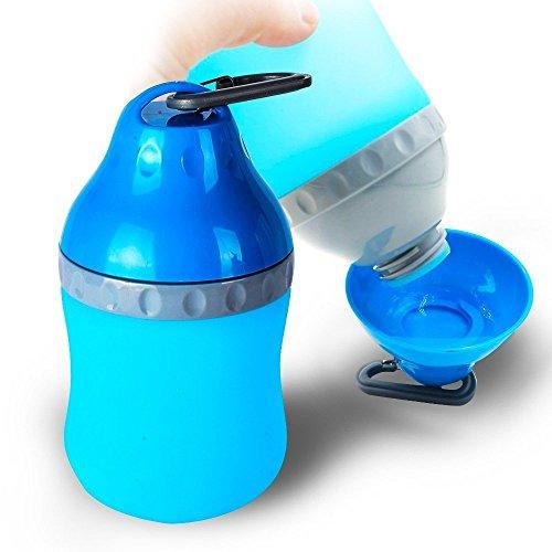 Trinkflasche für Hunde, Faltbare Wasserflasche aus Silikon, Trinknapf, 200 ml oder 400 ml (400 ML)