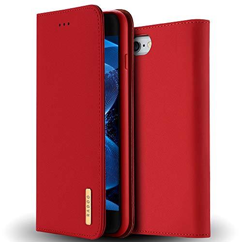 Radoo iPhone 6S Lederhülle,iPhone 6 Hülle, Luxus Premium Echtes Leder Klapphülle Slim Lederhülle TPU Innenraum Case Schlanke Ledertasche Handyhülle für Apple iPhone 6S/iPhone 6 4.7