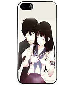 Fuson Love Couple Back Case Cover for APPLE IPHONE 5S - D3912