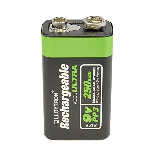 Lloytron PP3 9V Wiederaufladbare Batterien / Batterie Packung von 1 / Ni-MH / 250mA / für Radios, Fernbedienungen, Uhren usw. / iCHOOSE (Wiederaufladbare Volt 9 Energizer)