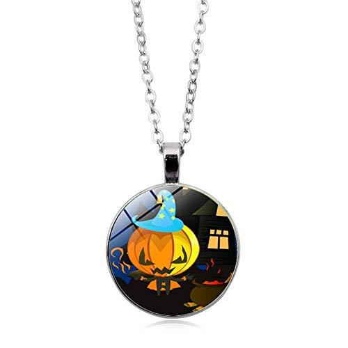 Blisfille Halloween Series Time Edelstein Halskette Mode Anhänger Halskette Festival Damen Herren ()