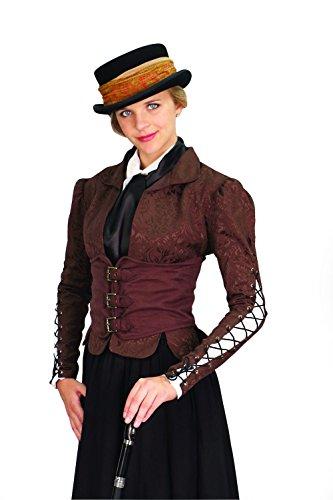 Unbekannt Winchester Braun Damen Korsett Fell Steampunk viktorianisches Kostüm Medium ()