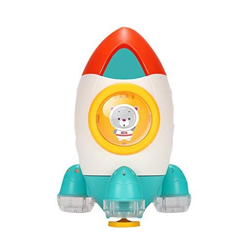 YIHANK Badespielzeug Hochwertiges Kleinkindspielzeug Wassermühle Spielzeug für die Badewannen Rakete Badespielzeug Wasserpistole Spielzeug