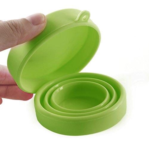 test silikon tasse für menstruationstasse faltbar tragbare
