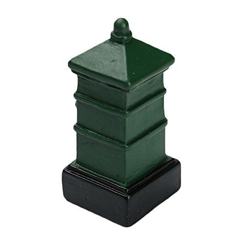 Yeleo Trosetry Style européen Moss Micro Paysage Résine Ornements nostalgique Petite boîte aux lettres Boîte aux lettres rétro Craft Green