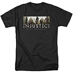 InJustice Gods Between Us - Camiseta para adulto con logo de videojuegos Negro Negro (XL