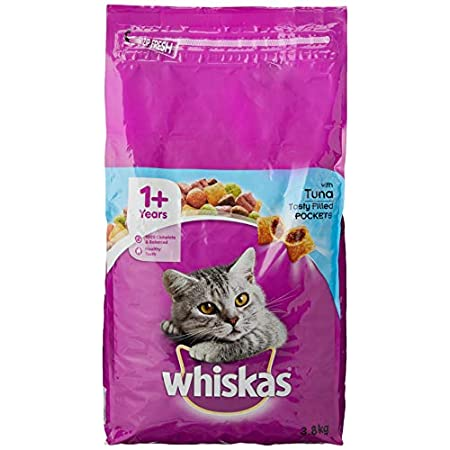 Whiskas Katzenfutter Trockenfutter Adult 1+ mit Thunfisch, Beutel