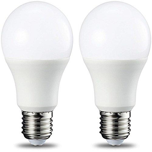 E27 LED Lampe,A60 9W,800lm,6500K Kaltweiß,Entspricht 60W Glühbirnen,Nicht dimmbar,2er Pack - 9w-6500k Glühbirne