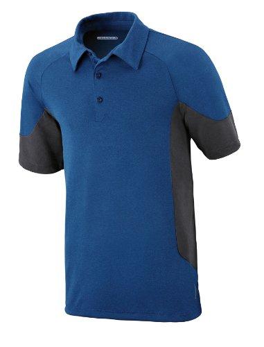 North End Herren Performance Melange Polo Shirt. 88677 NAUTICL BLUE 413