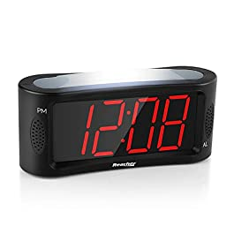 Reacher LED Sveglia Digitale, Orologio Sveglia da Comodino con Luce Notturna, Snooze, Gamma Completa dimmer di…