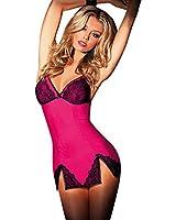 LAEMILIA Women Lingerie Nightwear Lace Clubwear Sleepwear Babydoll Pajamas G-String