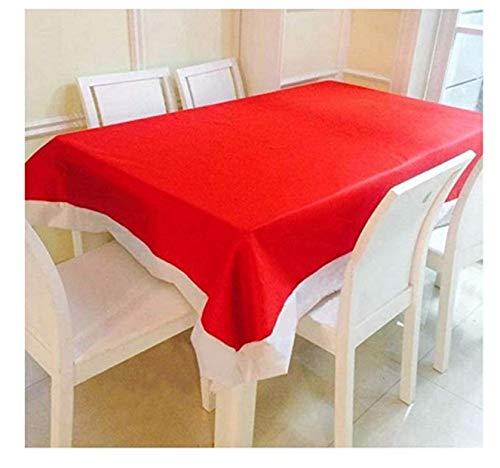 Evrylon tovaglia natalizia rettangolare per decorare la tavola cm 210 x 130 cm 6 posti in panno ideale per allestimenti natalizi