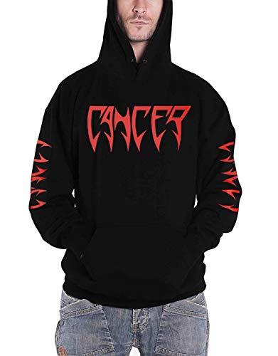 Cancer Felpa con Cappuccio Death Shall Rise Band Logo Nuovo Ufficiale Uomo Nero Size L