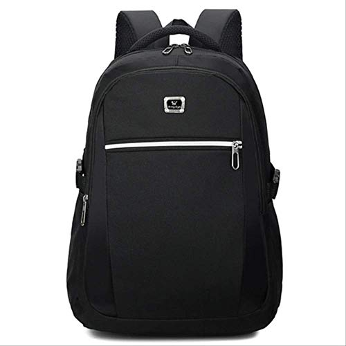 fhdc Rucksäcke Männer Frauen Rucksack USB-Schnittstelle Laptop-Computer Rucksack Schulrucksack Schultaschen Großraum-ReiserucksackSchwarz