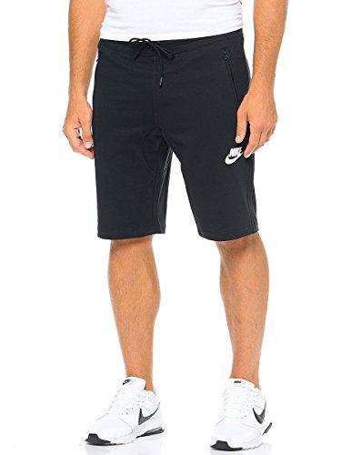 Nike Herren Advance 15 Fleece Short, Black/White, M