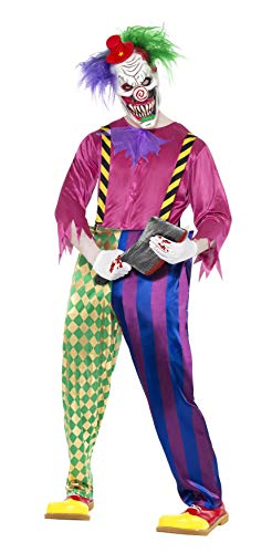 Killerclown Clown Saw Horror Kost�m Kolorful Klown Gr M (Ideen Halloween-party-preis Erwachsene Für)