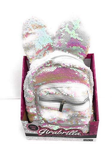 Girabrilla Mini backpack Rabbit Zaino con orecchie colore Bianco di Nice