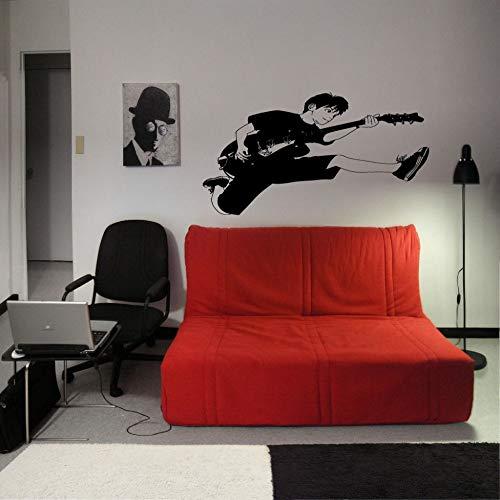 zqyjhkou Gitarre Rockstar Wandaufkleber Musik Nette Wand Vinyl Aufkleber Jungen Room Art Cooles Wandbild Interior Home Decor Poster La646 108x56 cm