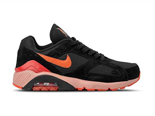 Nike Herren Air Max 180 Laufschuhe Mehrfarbig (Black/Team Orange/University Red 001), 42 EU -