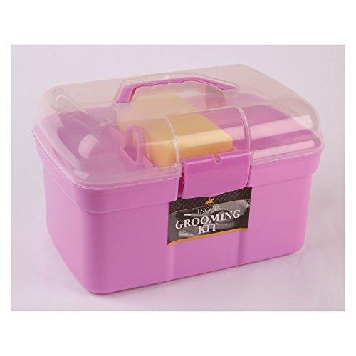 William Hunter Equestrian Lincoln Putzbox–Ein Perfektes Geschenk für Pferdeliebhaber Pink–Inklusive Ein vollständiges Sortiment ofeveryday Grooming Tools