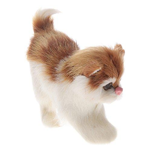 Schöne Lebensecht Katze Echtes Fell Pelztier Home Decor Kinder Geschenke - Katze 01