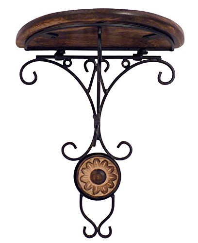Worthy Shoppee Beautiful Wooden Decorative Corner Wall Hanging Bracket Shelf