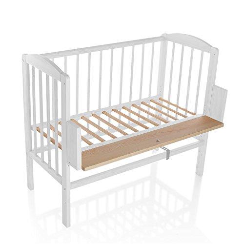 Kinderbett Gitterbett Beistellbett Maria 90x40cm - Weiß